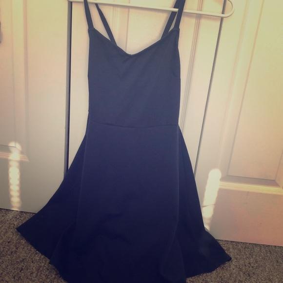 fad373c9b072 Navy Blue Skater Dress